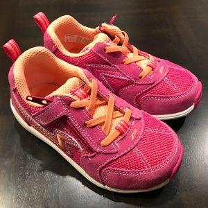 Stride Rite Zips Girls A/C Pink/Orange Sneakers